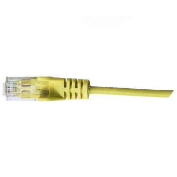 Hypertec CAT6 Slim Patch Lead 28awg Yellow 1m