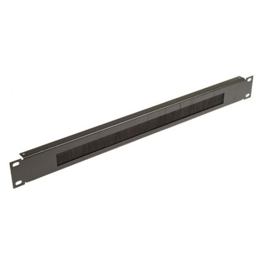 "1RU 19"" Brush Panel Black"