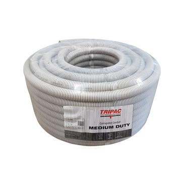 Tripac Corrugated Conduit Electrical Grey 20mm x 25m