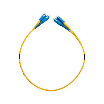 SC-SC OS1 Single Mode Duplex LSZH Fibre Patch Lead 0.5m