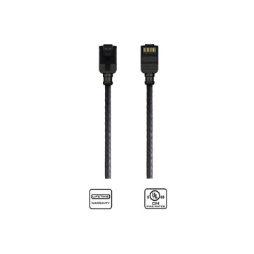 Kordz CAT6 Slim Patch Lead Black 10m