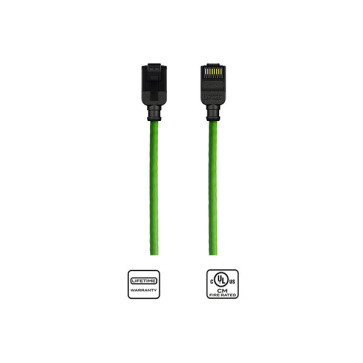 Kordz CAT6 Slim Patch Lead Green 2.5m