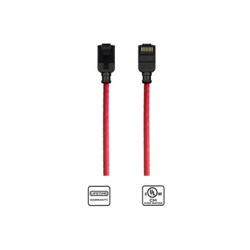 Kordz CAT6 Slim Patch Lead Red 3m
