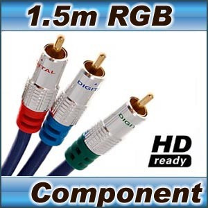High Quality 1.5m RGB Component Video cable