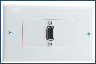 VGA Wall Plate 1 Port Single Face Plate for VGA or SVGA Cable