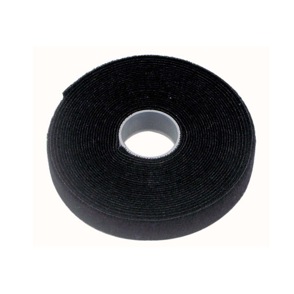 Cabac 12mm 2 x 25m Roll Black back to back grip for CAT6 Pro Cable Tie LS