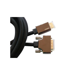 HDMI to DVI Premium Braided Cable 5m Zinc Alloy Plug