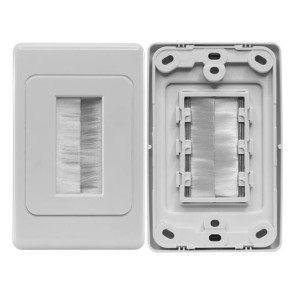 Pro2 Brush Cable Management Wall Plate ECO1272
