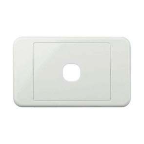 Digitek Custom 1 Gang Wall Plate White 05DWP01