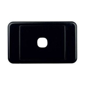 Digitek Custom 1 Gang Wall Plate Black 05DWP01BK