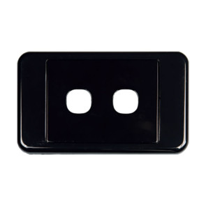 Digitek Custom 2 Gang Wall Plate Black 05DWP02BK