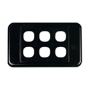 Digitek Custom 6 Gang Wall Plate Black 05DWP06BK