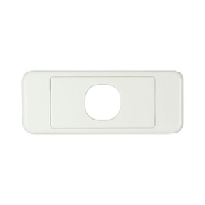 Digitek Architrave 1 Gang Wall Plate White 05DAWP01