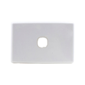 Amdex Custom 1 Gang Wall Plate with Full Cover White WPC-1