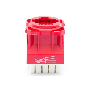 Amdex CAT5e RJ45 Network Insert Red DA103RED