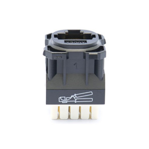 Amdex CAT6 RJ45 Network Insert Black DA600BLK