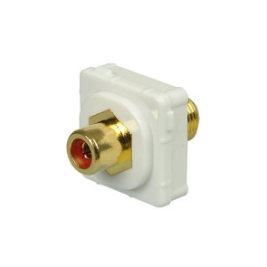 RCA Red Female to F Type Female Wall Plate Insert