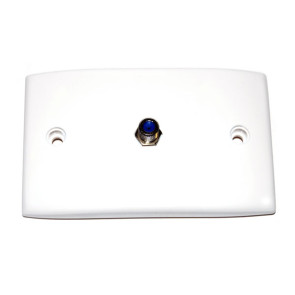 Hills Single F Type Wall Plate BC86818HR