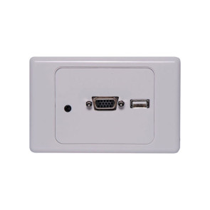 Dynalink VGA / USB / 3.5mm Clipsal 2000 Style Wallplate P6849A