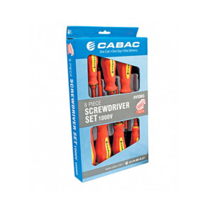 Cabac Screw Driver Set 8pce 1000v VDE 2009 HVSDK5