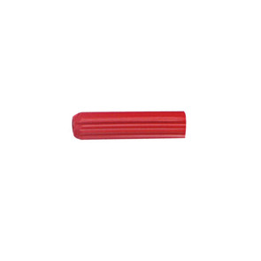 Cabac Wall Plug 7G x 25 Red PKT/100 WP25R