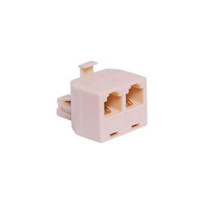 Telephone Adapter 6P4C RJ14 Plug to  2 x RJ14 Sockets