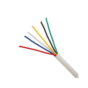 6 Core 14/020 Security Cable 100m White