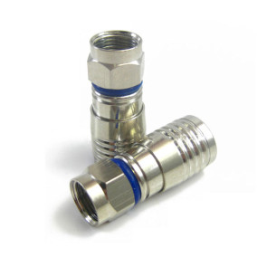 RG6 F Type Connector Compression (Blue Band)