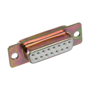 DB15 D Way Female Solder Socket Connector