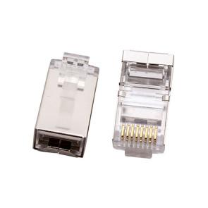 CAT6 RJ45 8P8C Plug Shielded 2PC (50 pack)