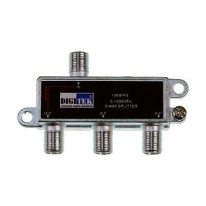 Digitek 3 Way F Type TV Antenna Splitter 5-1000Mhz 1LPP