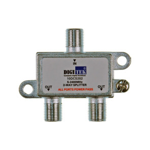 Digitek 2 Way F Type TV Antenna Splitter 5-2400Mhz  ALPP