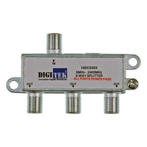 Digitek 3 Way F Type TV Antenna Splitter 5-2400Mhz ALPP