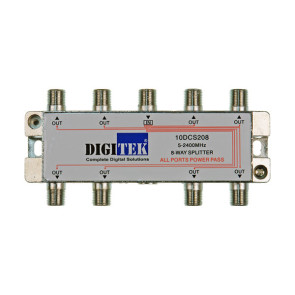 Digitek 8 Way F Type TV Antenna Splitter 5-2400Mhz ALPP