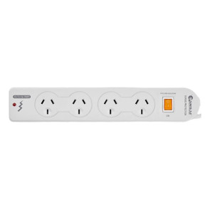 Sansai 4 Way Surge Power Board with Master Switch PAD014SP