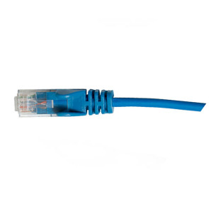 Hypertec CAT6 Slim Patch Lead 28awg Blue 0.5m
