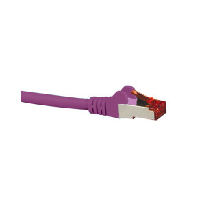 Hypertec CAT6A Shielded Patch Lead Purple 0.5m