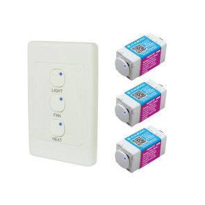 Cabac S-Click 3 in 1 Bathroom Timer Kit HNS443BK