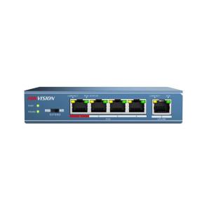 Hikvision 4 Port Unmanaged PoE Switch, 1*100M Uplink, 802.3af/at, 58W DS-3E0105P-E