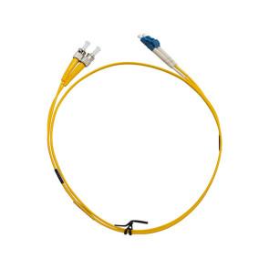 ST-LC OS1 Single Mode Duplex LSZH Fibre Patch Lead 3m