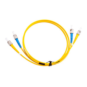ST-ST OS1 Single Mode Duplex LSZH Fibre Patch Lead 1m