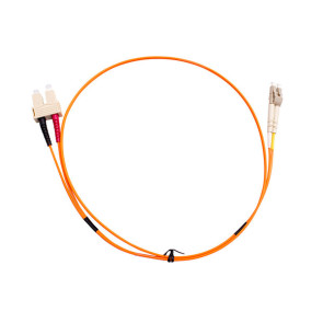 SC-LC Duplex OM1 Multimode Fibre Patch Lead 1m