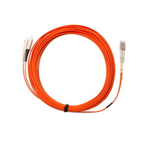 SC-LC Duplex OM1 Multimode Fibre Patch Lead 15m