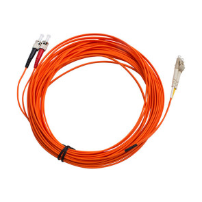 ST-LC Duplex OM1 Multimode Fibre Patch Lead 15m