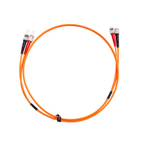ST-ST Duplex OM1 Multimode Fibre Patch Lead 0.5m