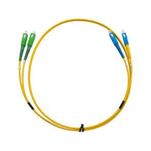 SCA-SC  Single Mode Duplex LSZH Fibre Patch Lead 2m